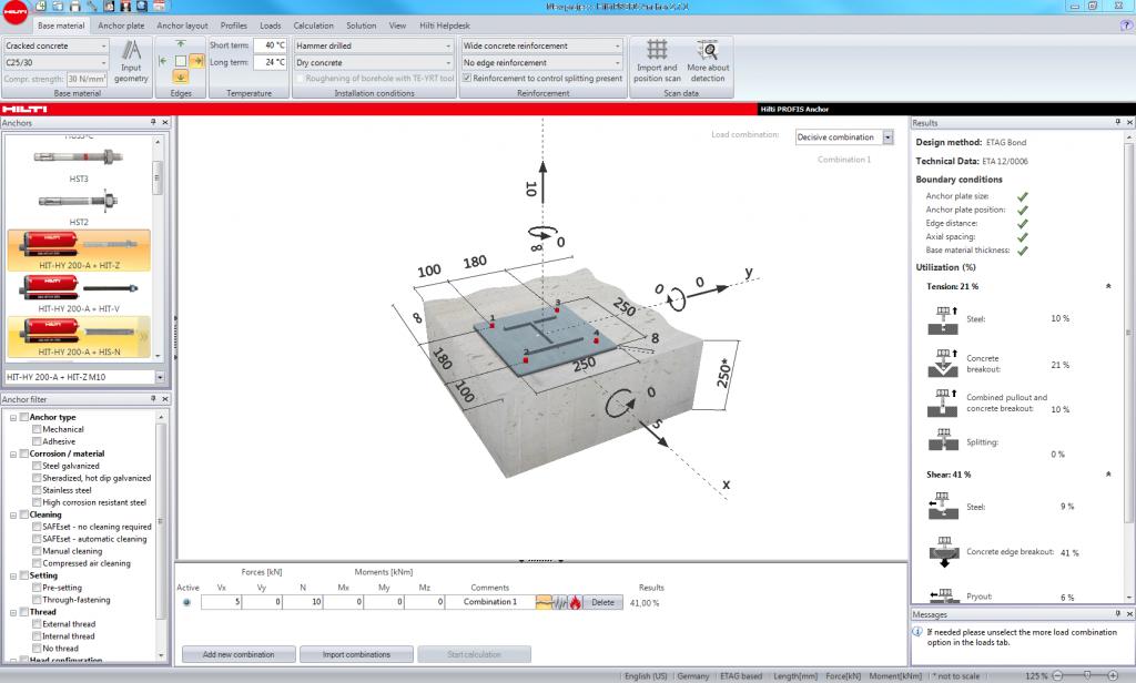 Concrete Anchor Design Software