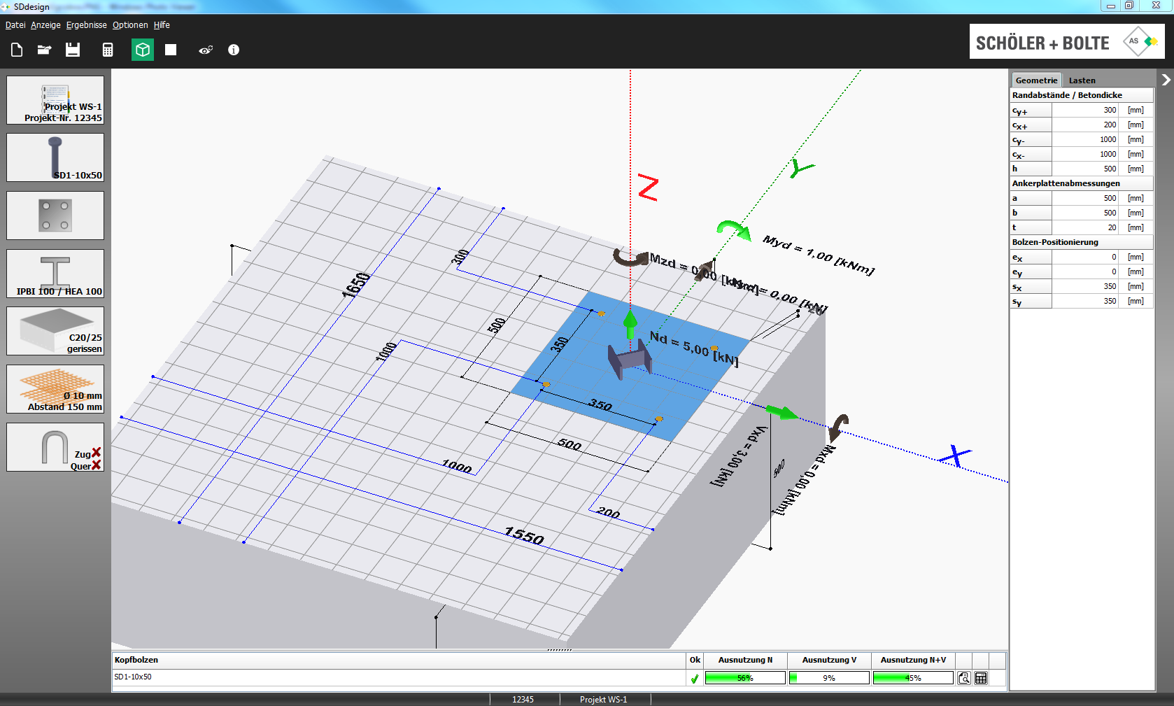 Software development nolasoft for as schler bolte gmbh the cast in headed stud design software sddesign graphical user interface with 3d graphics calculation kernel and pdf ccuart Gallery